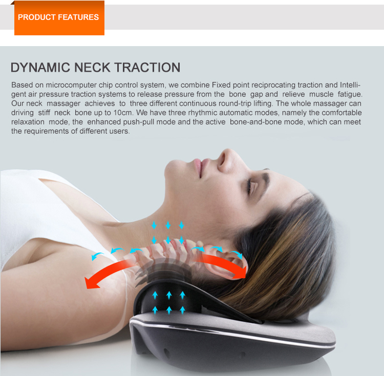 Physiotherapy and rehabilitation massager digital therapy machine neck support