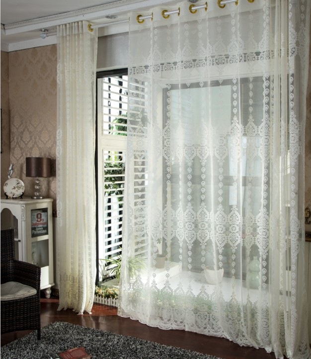 Customizable Jacquard Luury Curtains For Living Room White Sheer Curtains For Bedroom Tulle Window Curtain In The Kitchen