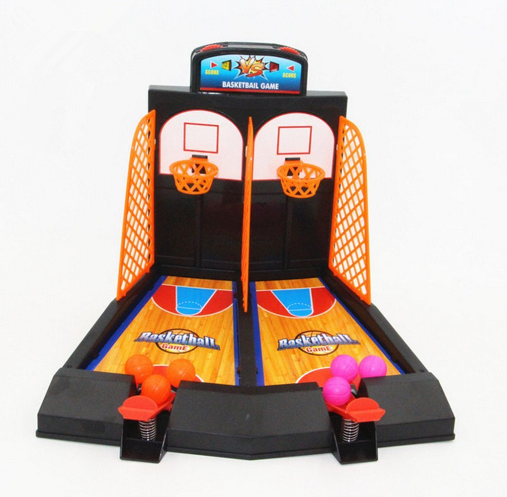 Avtion Basketball Shooting Game 2-Player Desktop Table Basketball Games Classic Arcade Games Basketball Hoop Set, Fun Sports Toy for Adults-Help Reduce Stress
