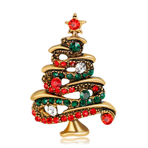 Wholesale high quality Christmas tree fashion brooch pins