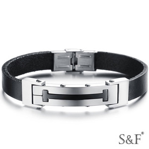 gb2014835 nickel-free gps jewelry leather Alibaba express bracelet