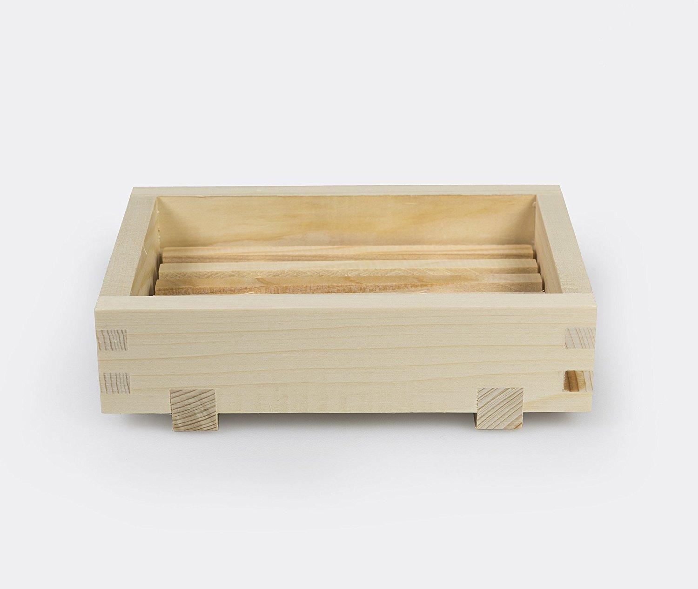IPPINKA Natural Japanese Hinoki Onsen Spa Stool Medium Style