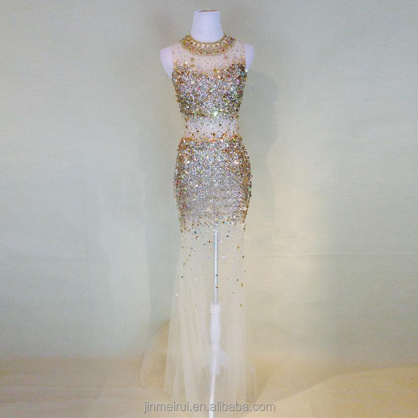 Finden Sie Hohe Qualität Kristall-diamant Abendkleider Hersteller ...