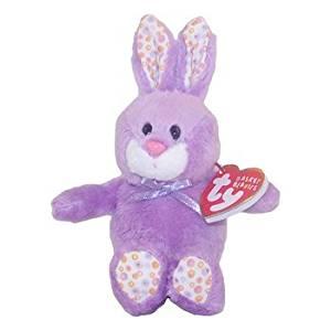 Ty Basket Beanies Bloom - Purple Bunny