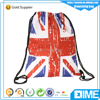 Customized colorful eco friendly promotional drawstring bag wholesale