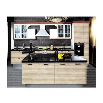 Harga Per Meter Akrilik Dapur Cabinet Moderen Kecil Desain