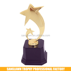 2018 popular sports golden trophy cups small metal trophy