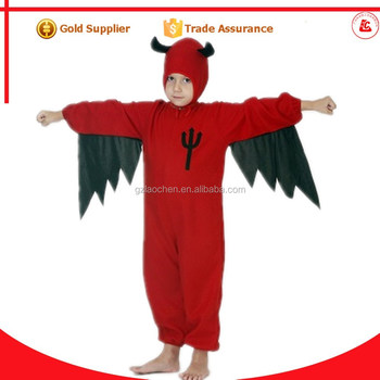china wholesale party costumes patterns halloween kids long sleeve devil costumes