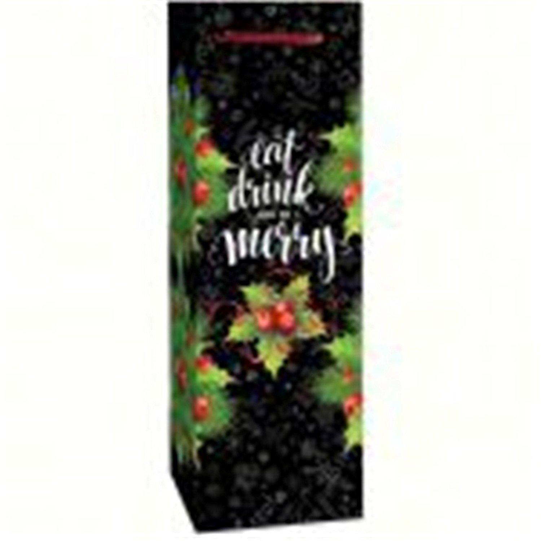 Bella Vita BVP1MERRY Economical Single Wine Bag - Be Merry