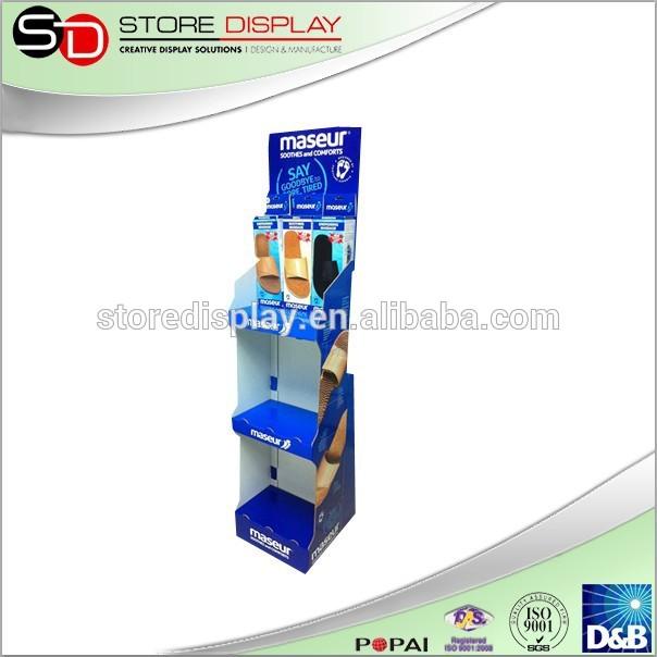 pop up display de papelão stand para chinelos de promoção e publicidade em  lojas de varejo f5d66577250