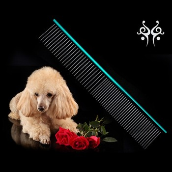 Stainless Steel Dog Comb Pet Comb Metal Lice Comb For Grooming