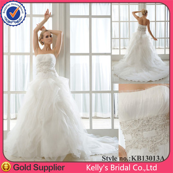 Beautiful Pleating Corset Bodice Ball Gown Ruched Organza Skirt Most Expensive Wedding Dress
