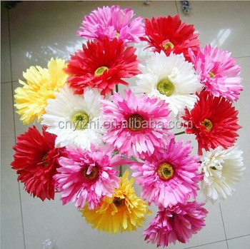 Artificial gerbera daisy flowers real touch artificial daisy flowers artificial gerbera daisy flowers real touch artificial daisy flowers wholesale colorful chrysanthemum mightylinksfo