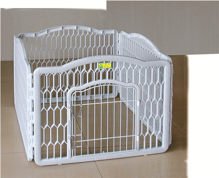 Hot Sale Dog Puppy Play Pen White Plastic Outdoor Portable
