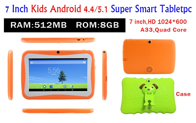 7 zoll allwinner A33 quad core android kinder tablet pc kinder lernen tablet pc mit lernen app download