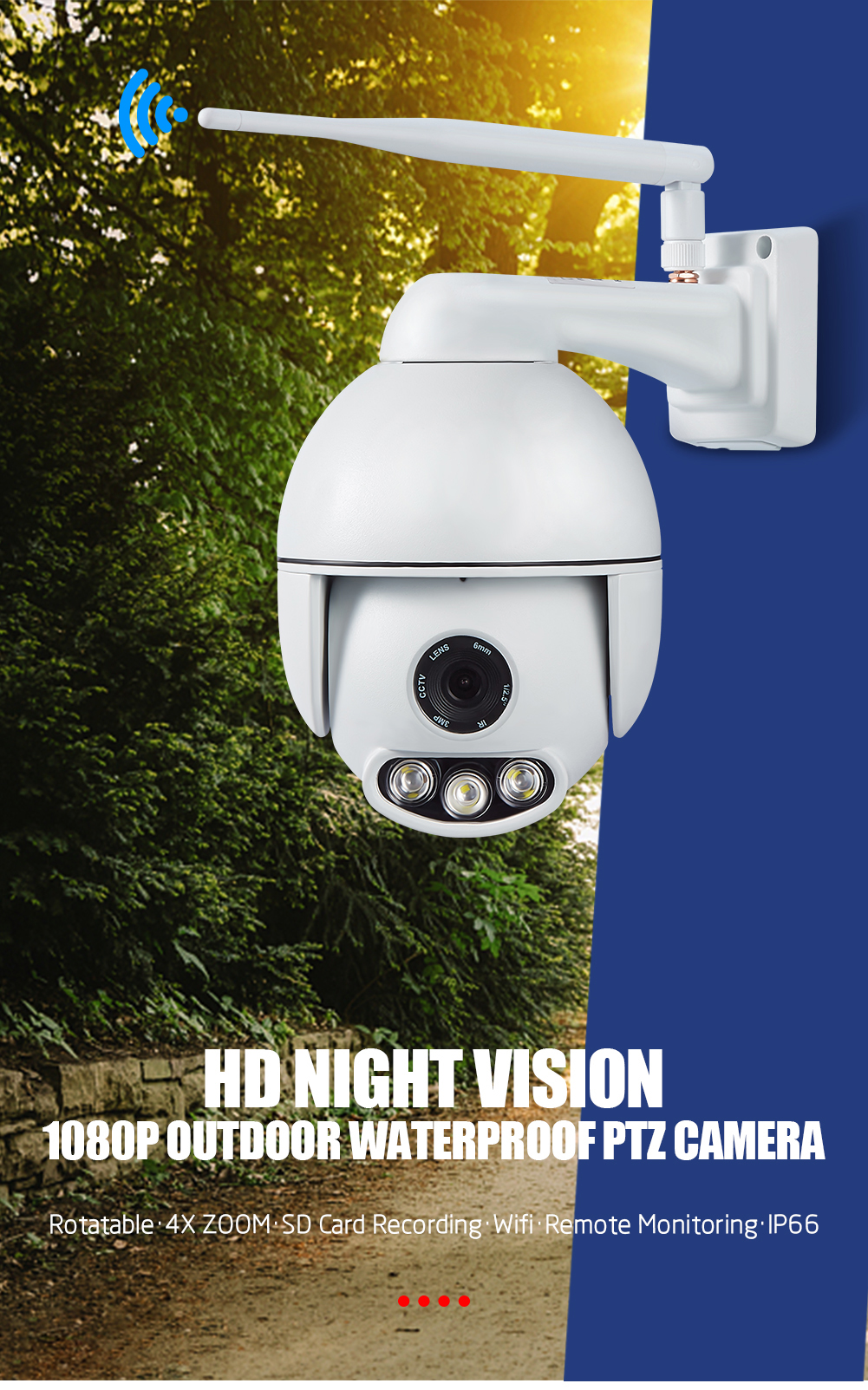 Wanscam K54 Support ONVIF Protocol Outdoor Plug And View IP Camera CCTV