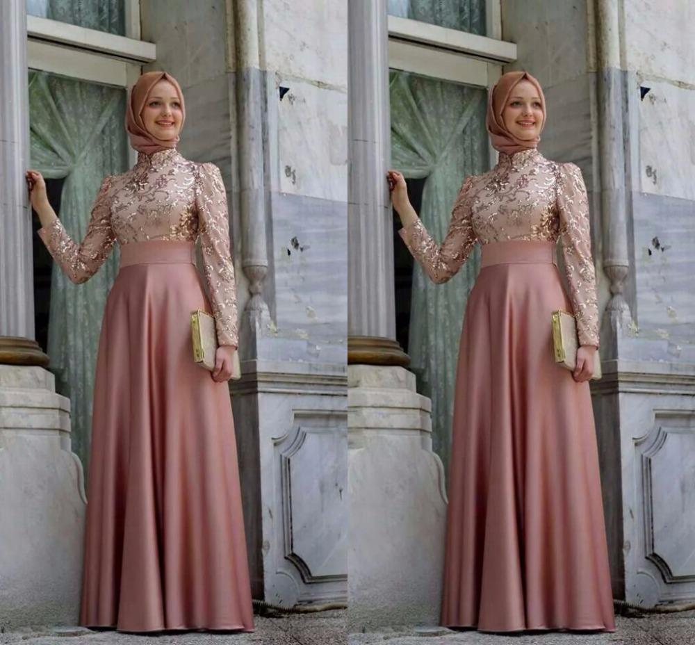 1f35a3607a6 Robes Longues Avec Manches Longues Hijab