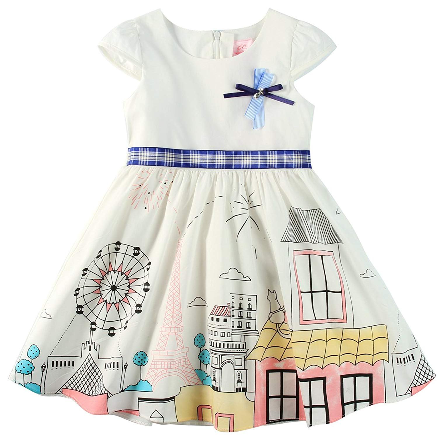 a390cf9de Buy Sharequeen Fairy World Printing Cotton Baby Kids Slip Dress ...