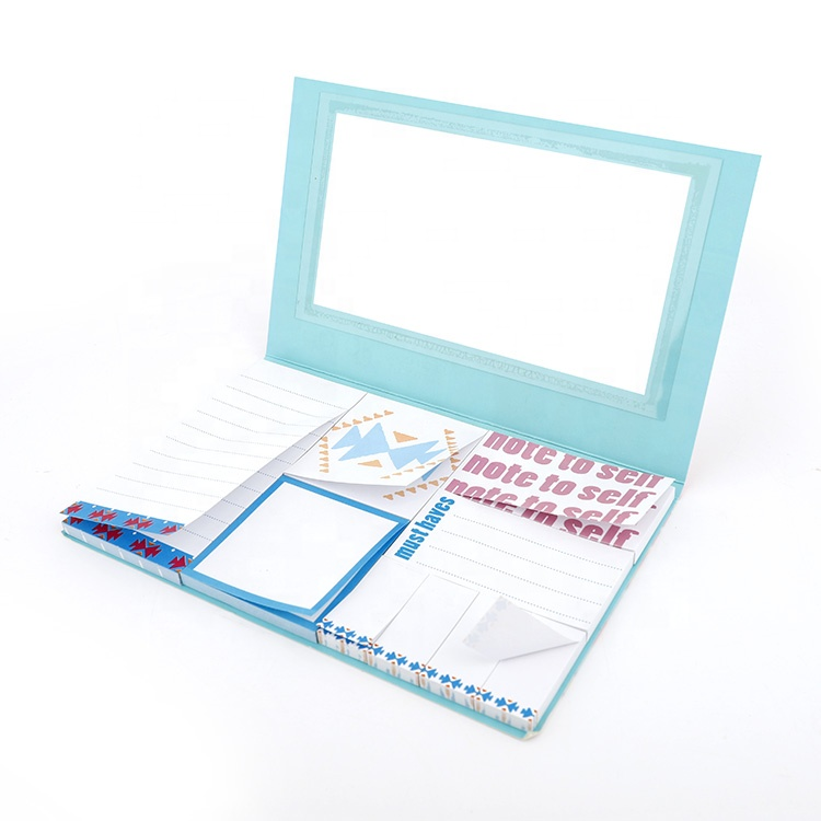 Colorido sticky note notepad com removível sticky notes nota sticky & memo pad