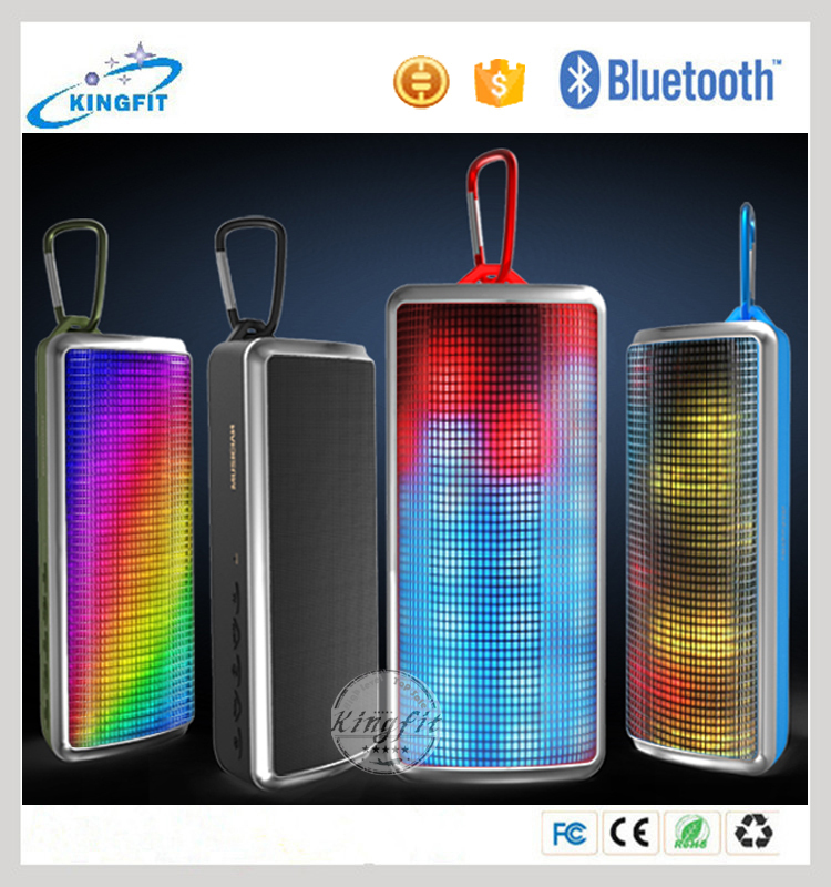 Smartphone accessories led lamp bluetooth speaker, portable mini powered subwoofer electrostatic speaker