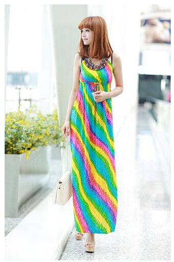 e53b7e0bac65 Get Quotations · 2015 new sleeveless sexy summer dresses for women O-Neck long  beach dress clothing online