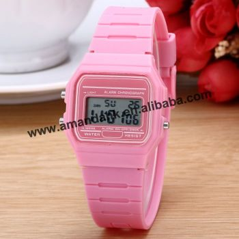 Best Seller Luxury Silicone Digital Fashion Design LED Men Waterproof Ultrathin Students Lady Alarm Watch