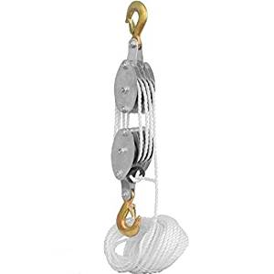 2 Ton Rope Hoist Pulley Wheel Block and Tackle 4,000lb Wild Game Deer Hanger NEW by Pulley Hoists