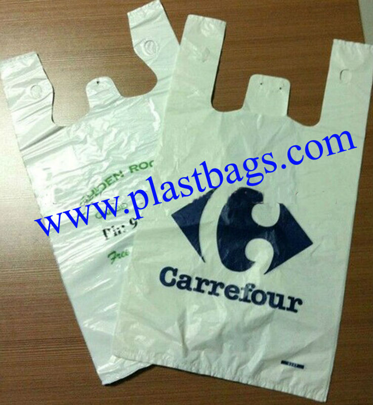Manufacture wholesale new style most popular hdpe t shirt for Cheap t shirt bags wholesale