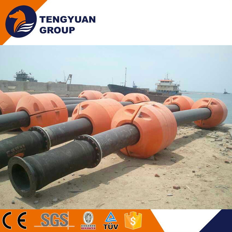 Floating pontoon braided rubber hose