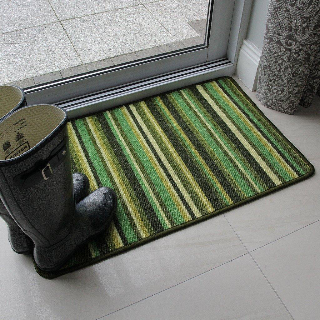 Green Stripe Anti Creep Entrance door mat and runner rugs Mat - 1?8? x 2?7?