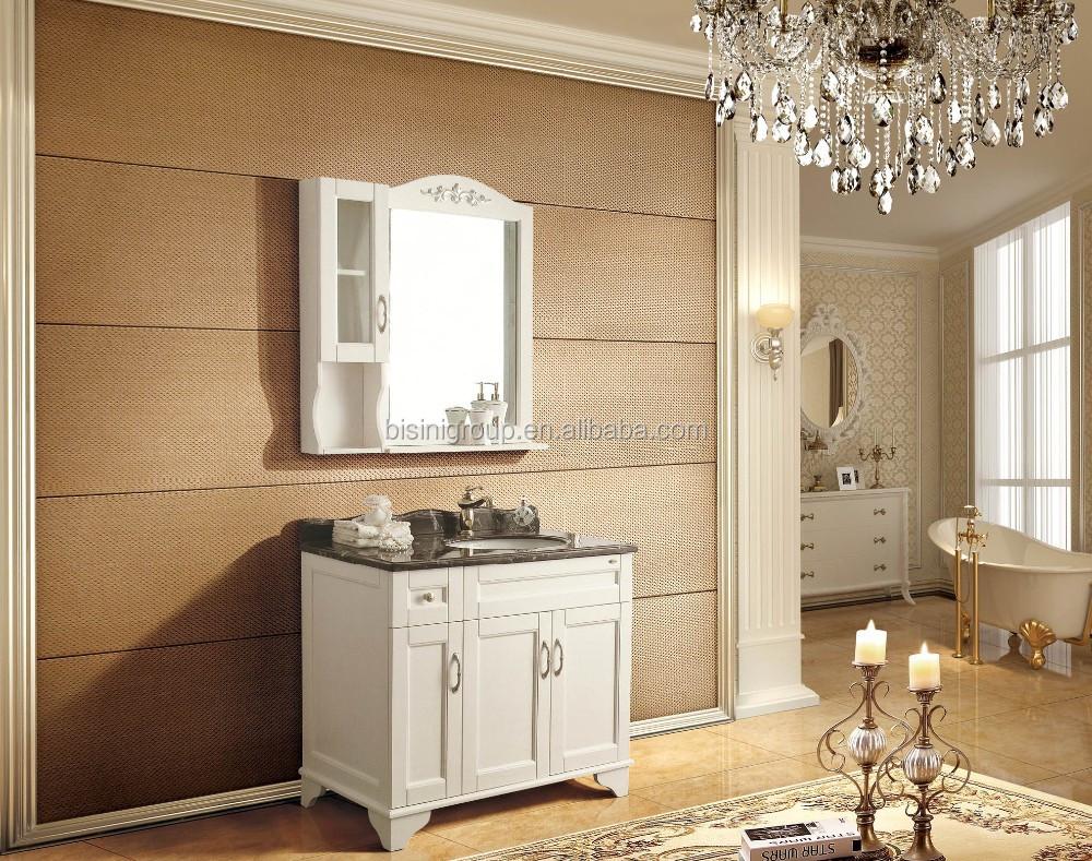 Vintage nobele europese stijl houten badkamermeubel aangepaste badkamer ijdelheid enkele - Badkamermeubels vintage ...