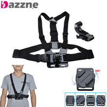 10pcs Adjustable Mount Chest Strap Body Harness Belt for Go Pro Hero 1 2 3 3+ 4 Sport Action Cameras Accessories