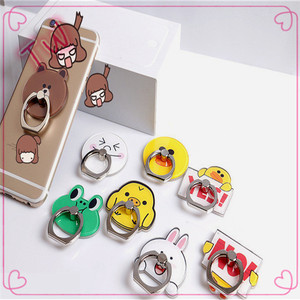 Peru latest hot selling Acrylic mobile phone ring stent ,Free samples cartoon cute animal design finger ring cell phone holder