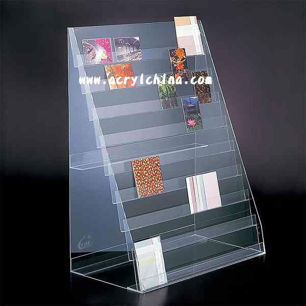 Acrylic Post Card Display / Greeting Card Display Stand ...