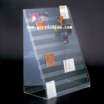 Acrylic Post Card Display Greeting Card Display Stand Literature Simple Greeting Cards Display Stands