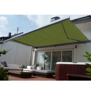 hot sale outdoor aluminum green retractable roof awning