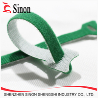 Nylon hook tape and loop tape press together for Hook and loop cable ties