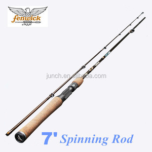 "Elite Tech 7' and 6'6"" M Spinning Fishing Rod 2 Section Carbon Fishing Rod Spinning"