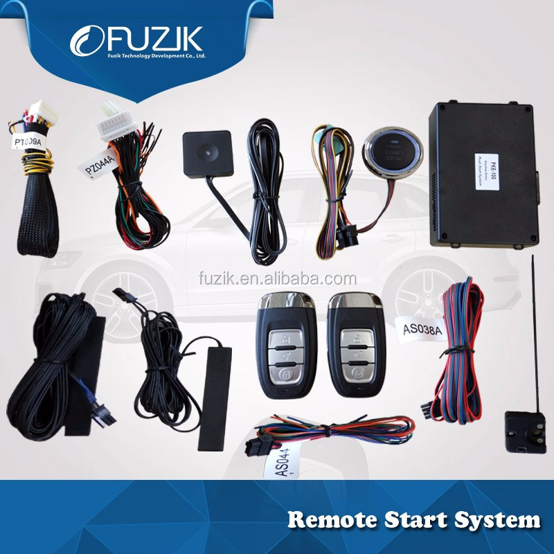 Car alarm for Golf6 Remote Starter PKE Keyless Entry remote and Push Button Start Engine Start Button for Volkswagen