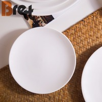 Custom restaurant hotel used ceramic tableware appetizer plates cheap bulk white royal porcelain dinner plate