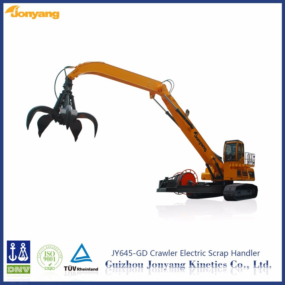 high quality 45ton JY645-GD excavator hydraulic log grapple Scrap grabber