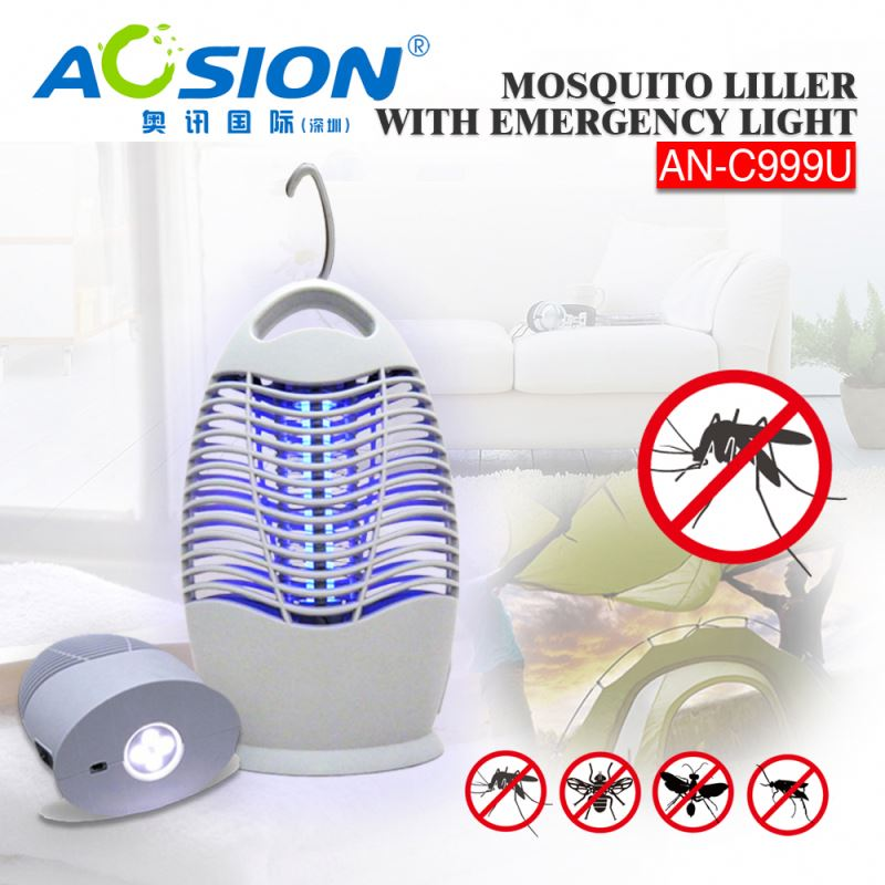 Aosion Brand BSCI Quality Assurance rechargeable electric mosquito killer with LED light