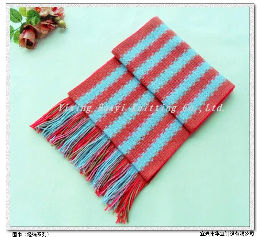 100% acrylic knitted scarves
