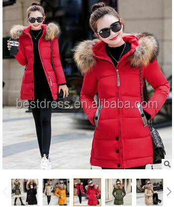2016 fashion new design Winter Women Jacket Long Down Jacket Padded Coat