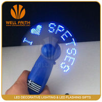 kids portable mini led fan wih message changing