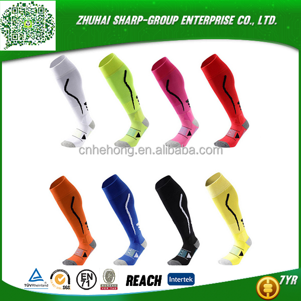 Fashion Wholesale 100% Polyester Customized compression sock 20-30mmhg graduated