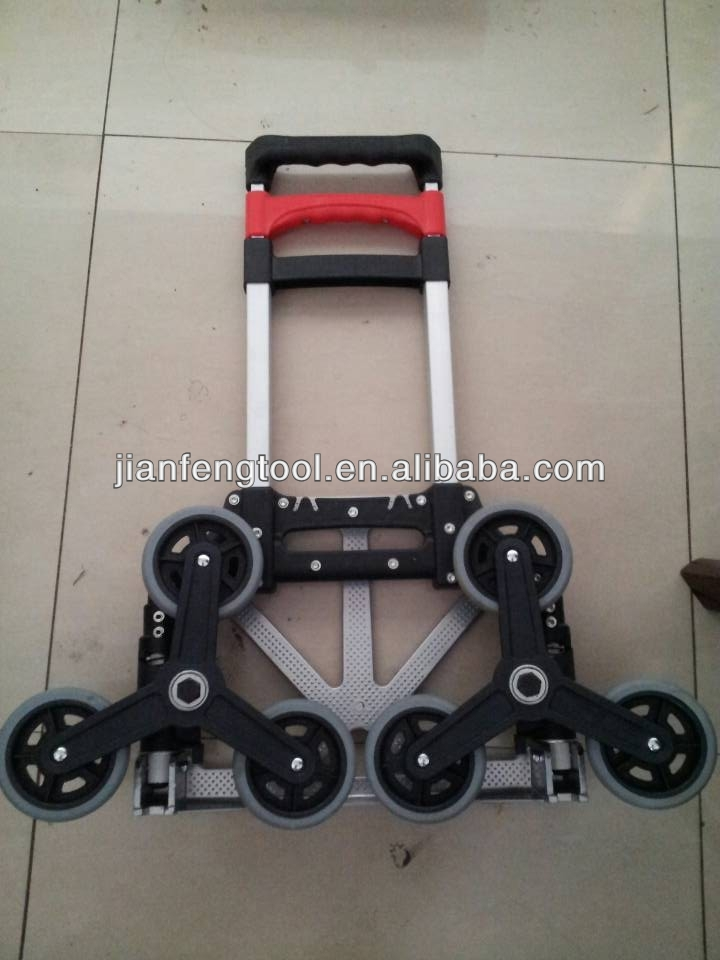 Six Wheels Climbing Stair Foldable Hand Truck Capacity 70 Kgs ...