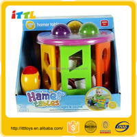 Wholesale safe plastic toy baby block toy /plastic hammer toy from China