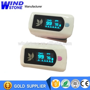 Digital Pulse Oximeter Oxygen Sensor Pulse Rate Monitor with Alarm Setting Color OLED Display