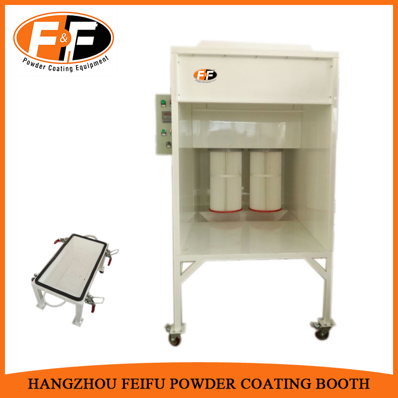 Small Powder Coating Spray Booth with Filter Cartridge